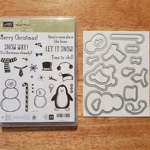 NEW!!! Stampin' Up! Snow Place Stamps & Dies